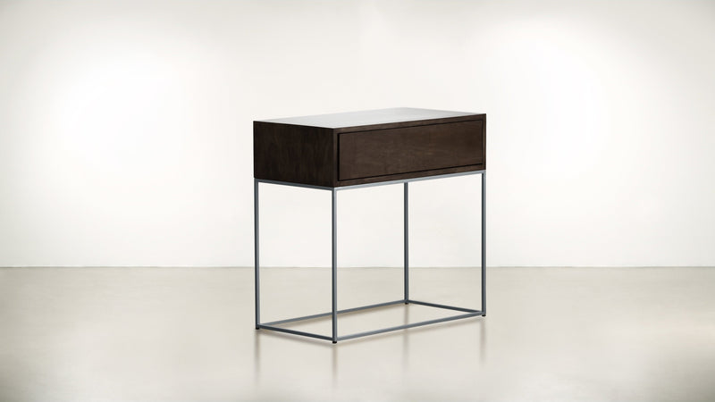 The Beau Idéal Nightstand Nightstand Chocolate / Silver Whom. Home