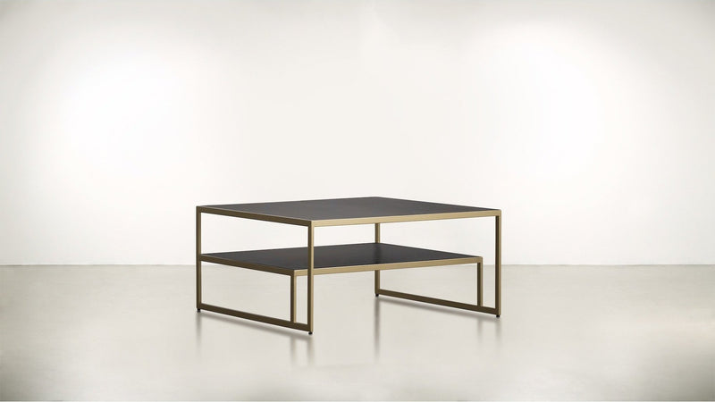 The Regent Coffee Table Coffee Table Chocolate / Brass Whom. Home