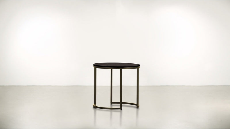 The Cosmopolite Side Table Side Table Chocolate / Brass Whom. Home