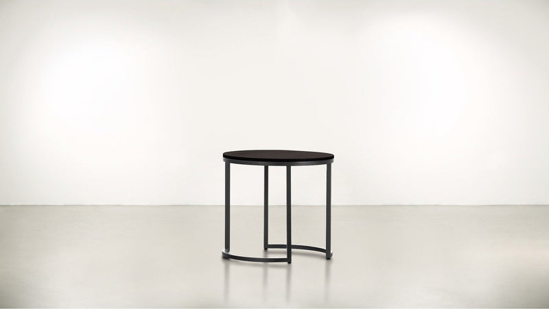 The Cosmopolite Side Table Side Table Chocolate / Silver Whom. Home