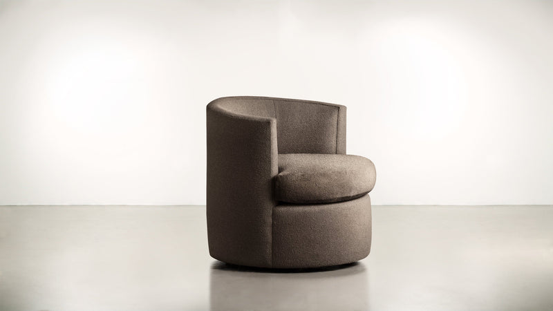 The Curator Lounge Chair Lounge Chair Boucle Knit Chocolate Whom. Home
