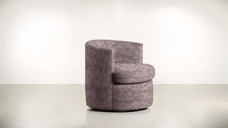 The Curator Lounge Chair Lounge Chair Crushed Micro-Chenille Blush Whom. Home
