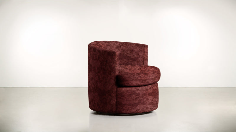 The Curator Lounge Chair Lounge Chair Crushed Micro-Chenille Bordeaux Whom. Home