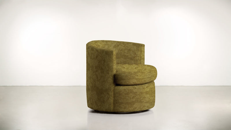 The Curator Lounge Chair Lounge Chair Crushed Micro-Chenille Dijon Whom. Home