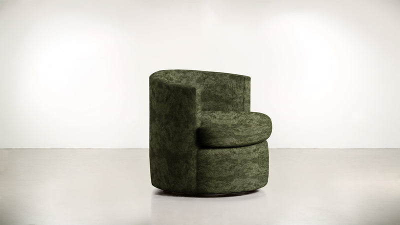 The Curator Lounge Chair Lounge Chair Crushed Micro-Chenille Forest Whom. Home