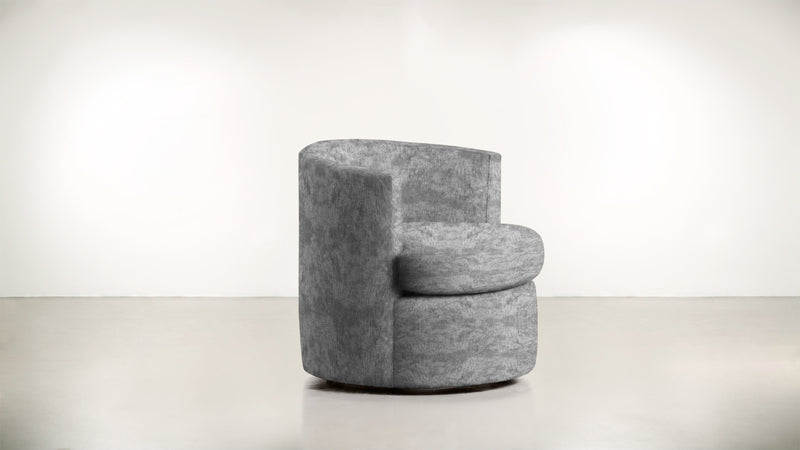 The Curator Lounge Chair Lounge Chair Crushed Micro-Chenille Granite Whom. Home