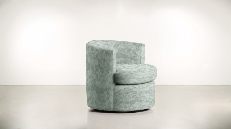 The Curator Lounge Chair Lounge Chair Crushed Micro-Chenille Mint Whom. Home