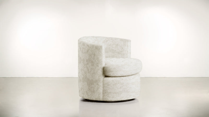 The Curator Lounge Chair Lounge Chair Crushed Micro-Chenille Snow Whom. Home