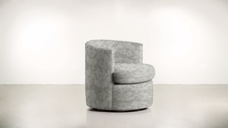 The Curator Lounge Chair Lounge Chair Crushed Micro-Chenille Stone Whom. Home