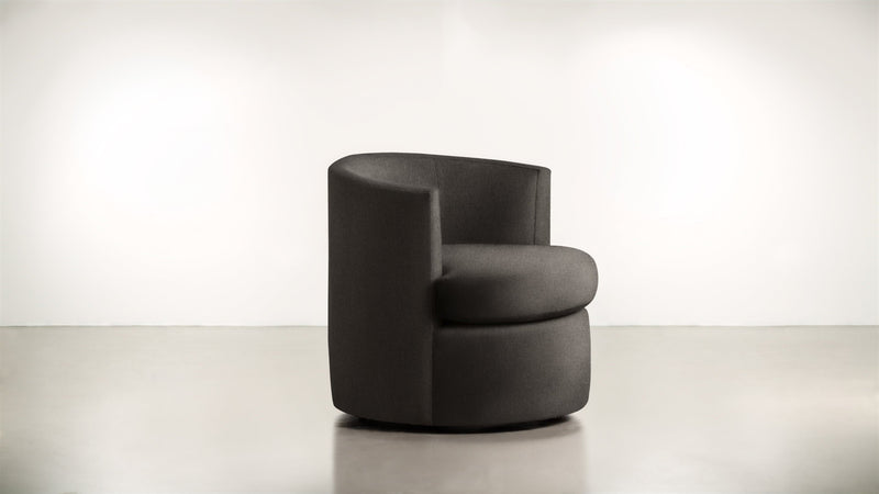 The Curator Lounge Chair Lounge Chair Soft Heathered Weave Charcoal Whom. Home