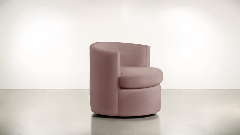 The Curator Lounge Chair Lounge Chair Velvet Knit Blush Whom. Home