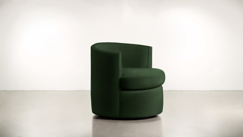 The Curator Lounge Chair Lounge Chair Velvet Knit Evergreen Whom. Home