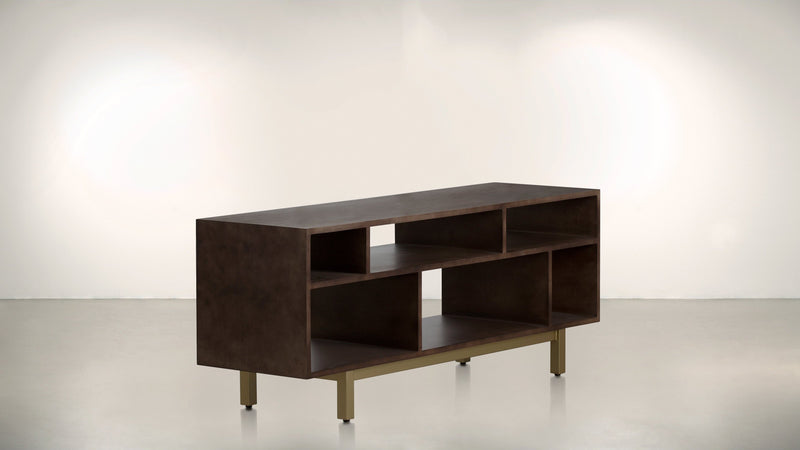 The Diplomat Media Console Media Console Chocolate / Brass Whom. Home