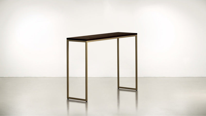 The Essentialist Console Console Chocolate / Brass Whom. Home