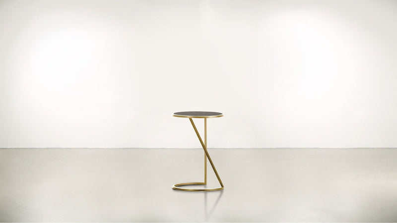 The Free Spirit Side Table Side Table Brass / Chocolate Whom. Home