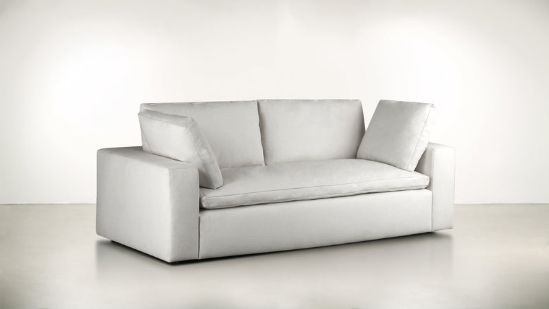 The Freelancer Sofa 5' Sofa Fine Linen Weave Cotton Whom. Home
