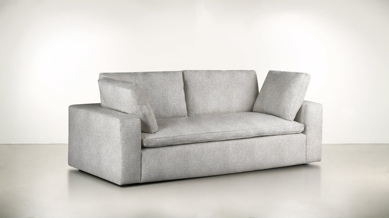 The Freelancer Sofa 5' Sofa Lightweight Micro-Chenille Dove Whom. Home