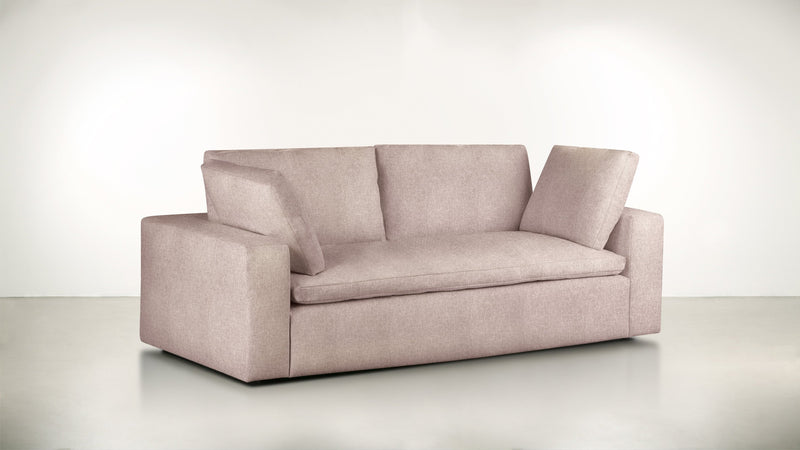 The Freelancer Sofa 5' Sofa Soft Heathered Weave Blush Whom. Home