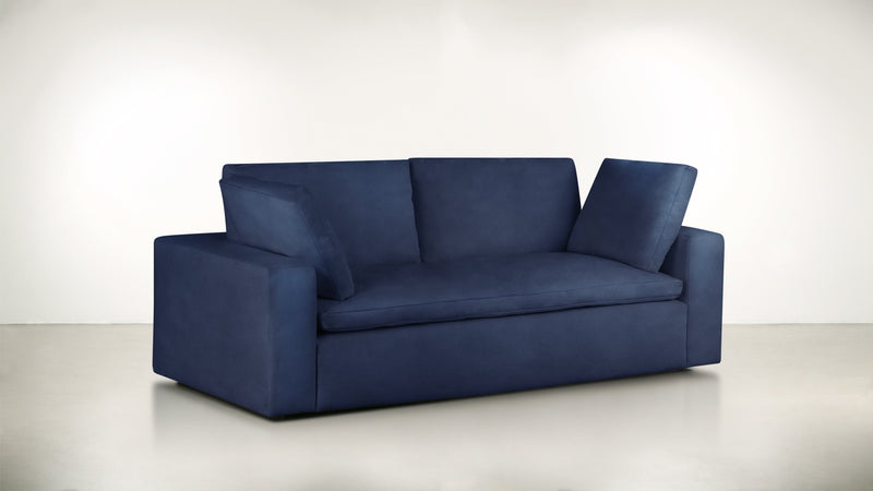 The Freelancer Sofa 5' Sofa Velvet Knit Cobalt Whom. Home