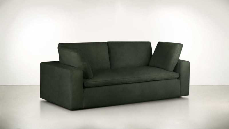 The Freelancer Sofa 5' Sofa Velvet Knit Evergreen Whom. Home