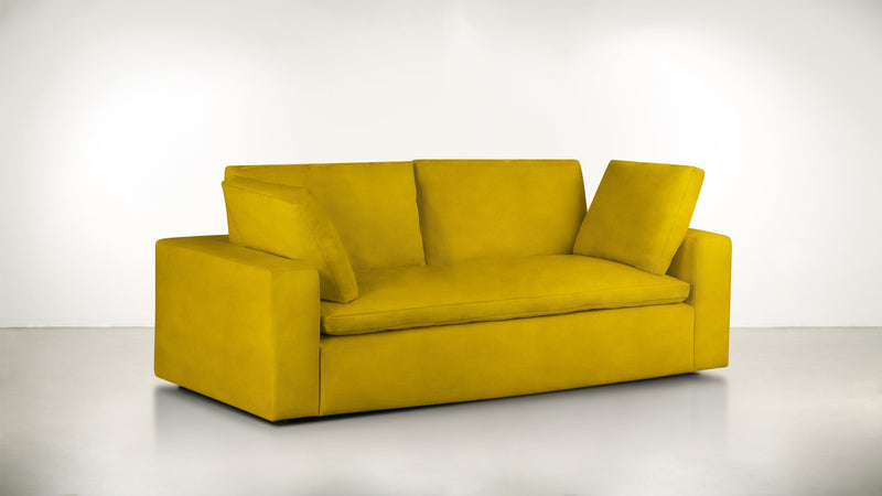 The Freelancer Sofa 5' Sofa Velvet Knit Marigold Whom. Home
