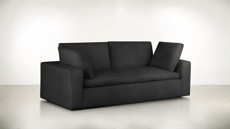 The Freelancer Sofa 5' Sofa Velvet Knit Onyx Whom. Home