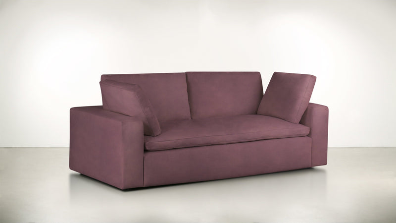 The Freelancer Sofa 5' Sofa Velvet Knit Rose Whom. Home