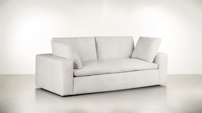 The Freelancer Sofa 5' Sofa Velvet Knit White Whom. Home