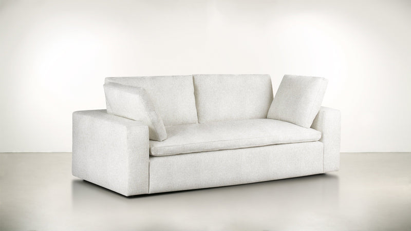 The Freelancer Sofa 6' Sofa Lightweight Micro-Chenille Snow Whom. Home