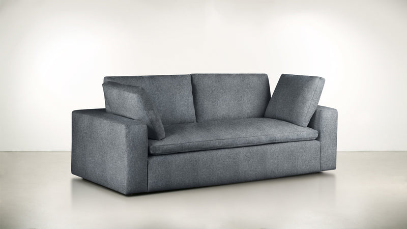 The Freelancer Sofa 7' Sofa Lightweight Micro-Chenille French Blue Whom. Home
