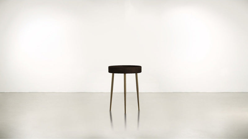 The Good Timer Side Table Side Table Chocolate / Brass Whom. Home