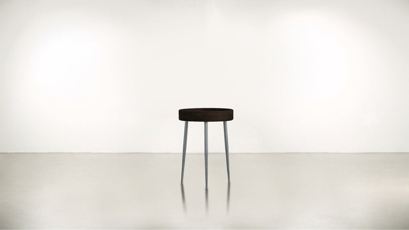 The Good Timer Side Table Side Table Chocolate / Silver Whom. Home