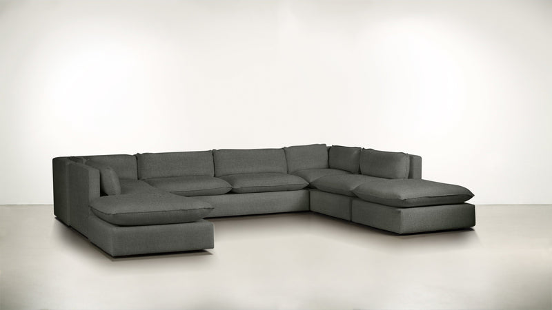 The Oracle Modular Sectional Modular Sectional Boucle Knit Ash Whom. Home
