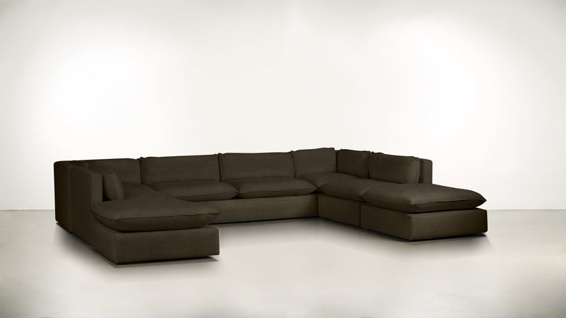 The Oracle Modular Sectional Modular Sectional Boucle Knit Chocolate Whom. Home