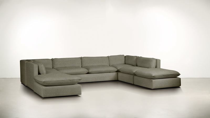 The Oracle Modular Sectional Modular Sectional Boucle Knit Platinum Whom. Home