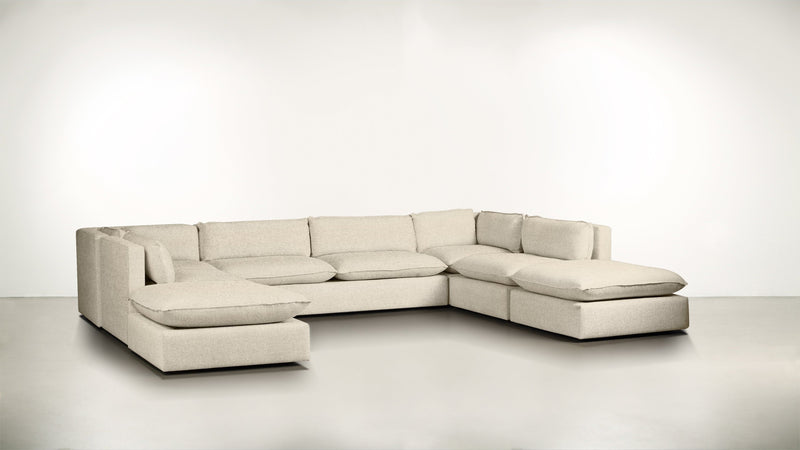 The Oracle Modular Sectional Modular Sectional Boucle Knit Snow Whom. Home