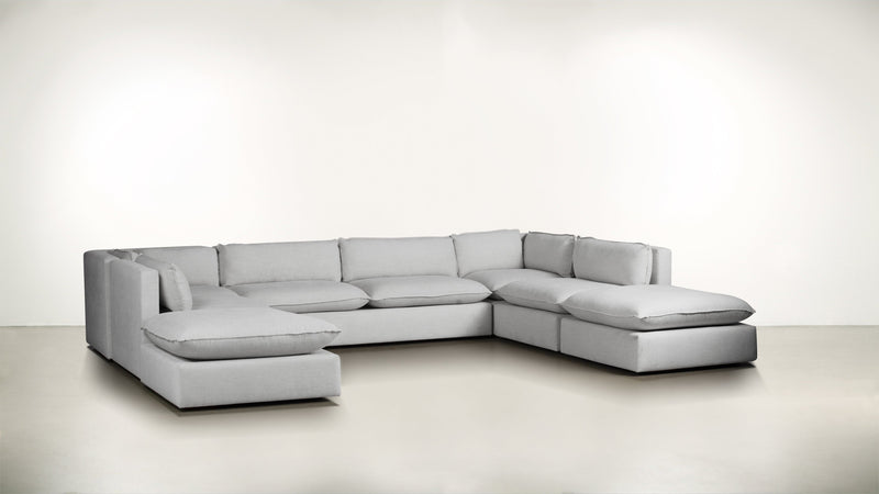 The Oracle Modular Sectional Modular Sectional Lightweight Micro-Chenille Dove Whom. Home