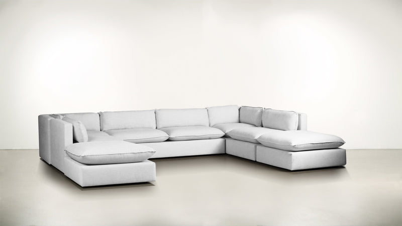 The Oracle Modular Sectional Modular Sectional Lightweight Micro-Chenille Snow Whom. Home