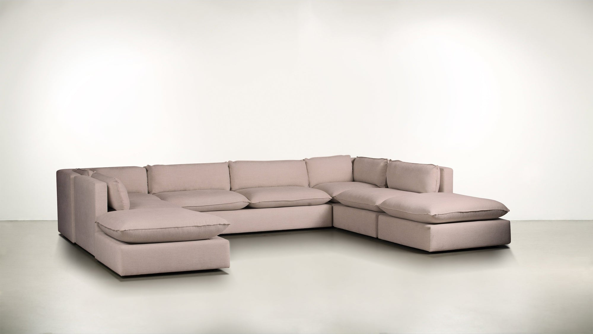 The Insider Modular Sectional Soft Heathered Weave Blush Whom. Home