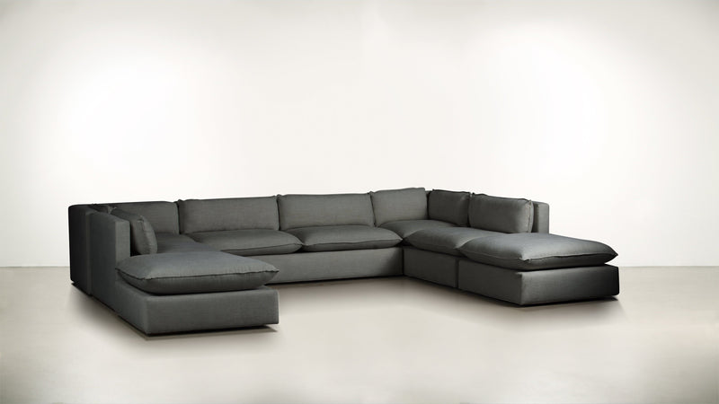 The Oracle Modular Sectional Modular Sectional Soft Heathered Weave Charcoal Whom. Home