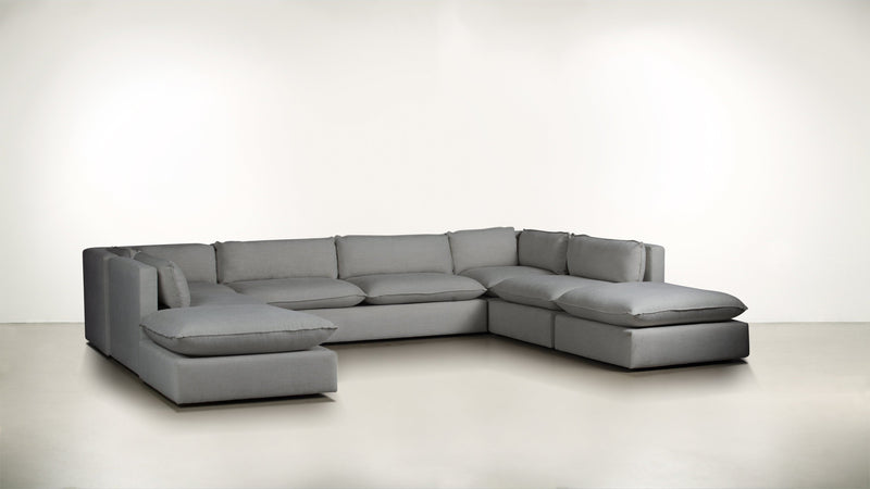 The Oracle Modular Sectional Modular Sectional Soft Heathered Weave Platinum Whom. Home