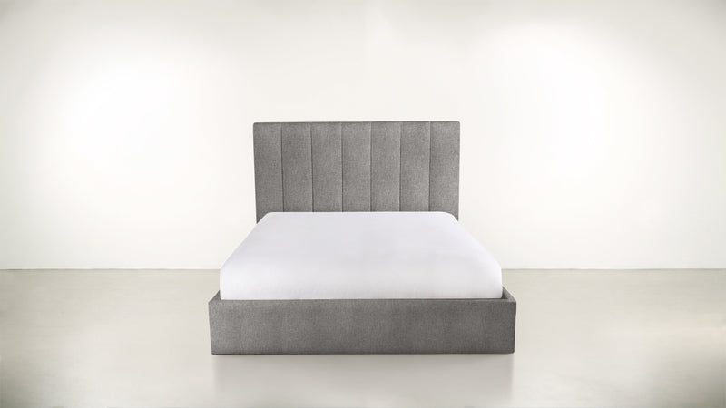 The Maximalist Cal King Cal King Structured Linen Weave Steel Whom. Home