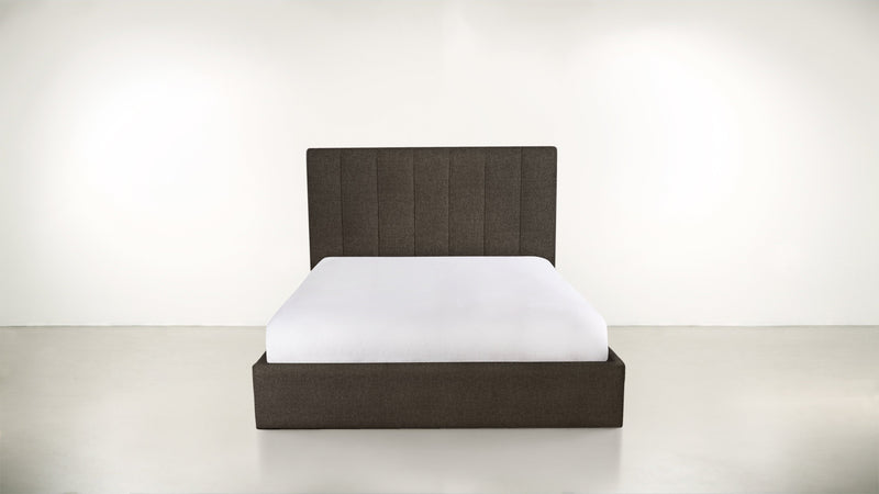 The Maximalist Queen Bed Queen Bed Boucle Knit Chocolate Whom. Home