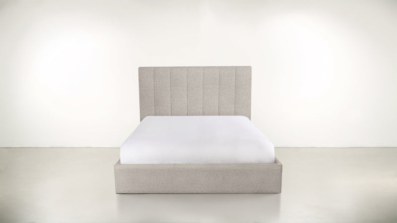 The Maximalist Queen Bed Queen Bed Boucle Knit Platinum Whom. Home