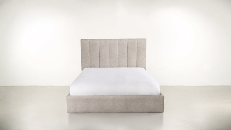 The Maximalist Queen Bed Queen Bed Classic Linen Weave Almond Whom. Home
