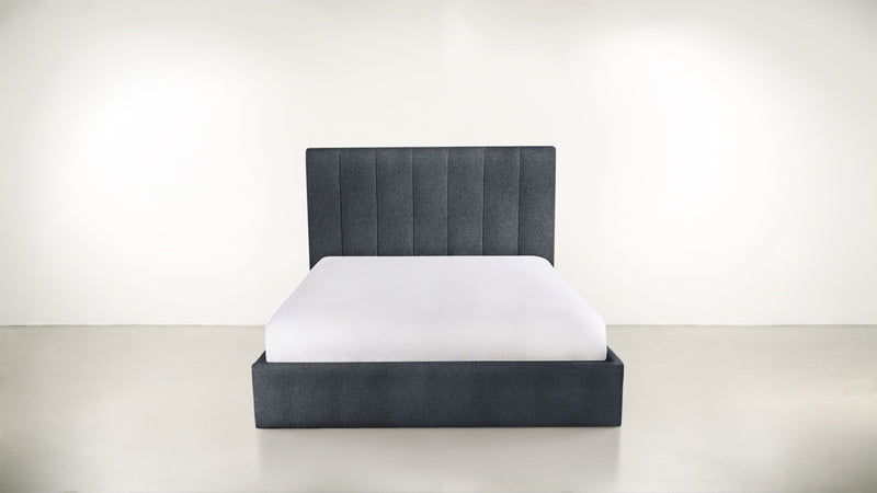 The Maximalist Queen Bed Queen Bed Classic Linen Weave Navy Whom. Home