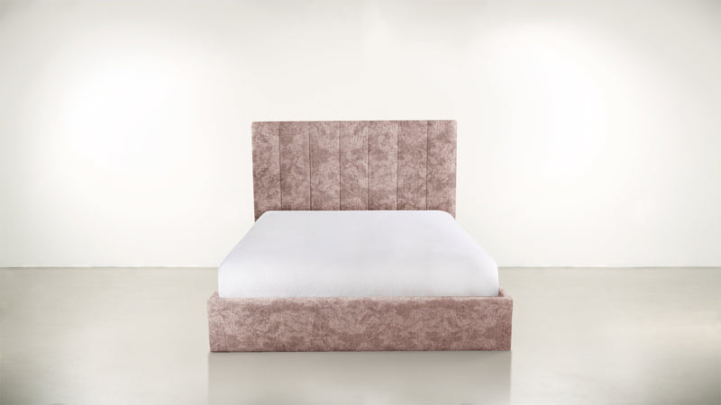 The Maximalist Queen Bed Queen Bed Crushed Micro-Chenille Blush Whom. Home