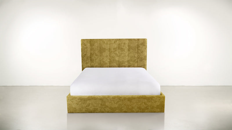 The Maximalist Queen Bed Queen Bed Crushed Micro-Chenille Dijon Whom. Home