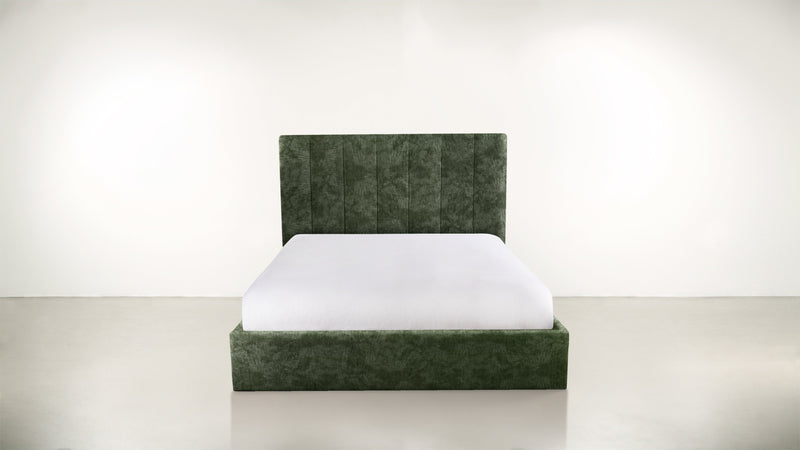 The Maximalist Queen Bed Queen Bed Crushed Micro-Chenille Forest Whom. Home