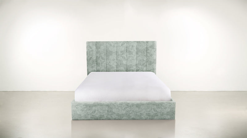 The Maximalist Queen Bed Queen Bed Crushed Micro-Chenille Mint Whom. Home